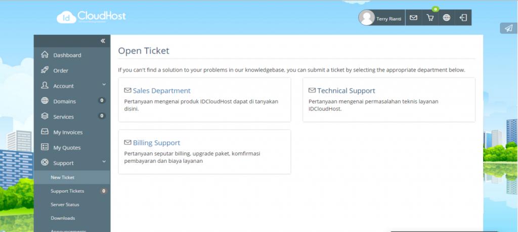 Tutorial Pengajuan Ticket di IDCloudHost | IdcloudHost
