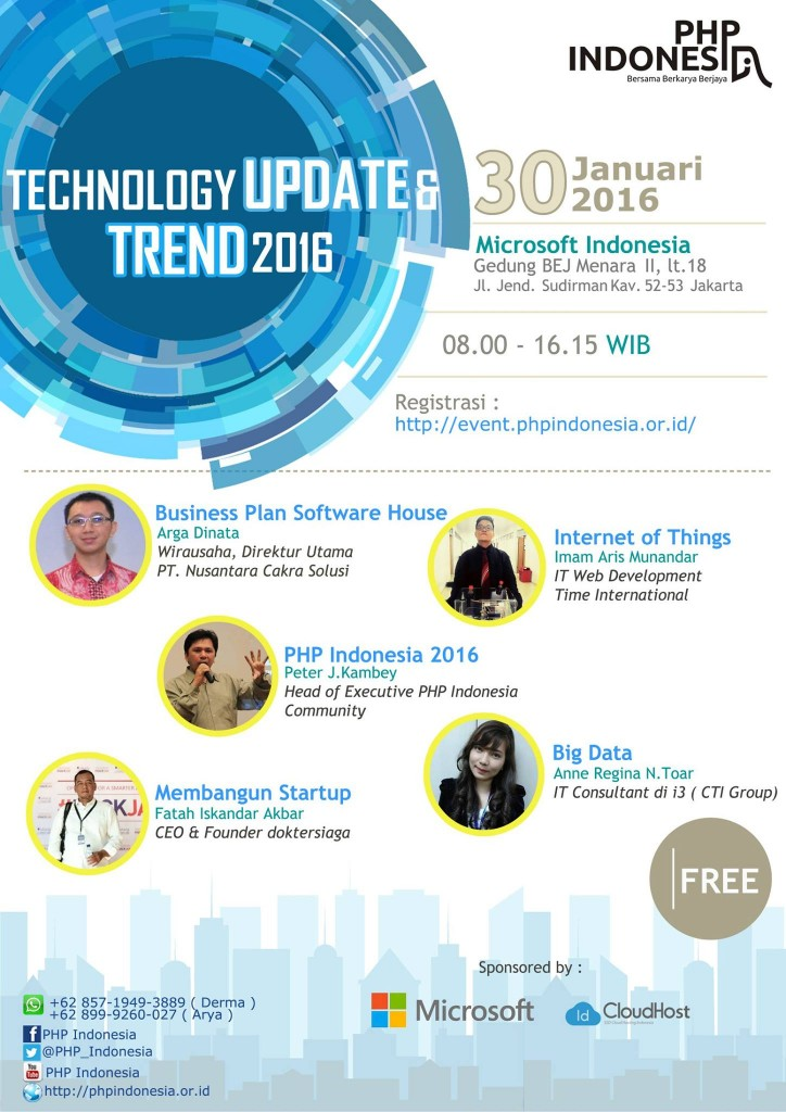 PHP Indonesia Event - Microsoft & IDCloudHost