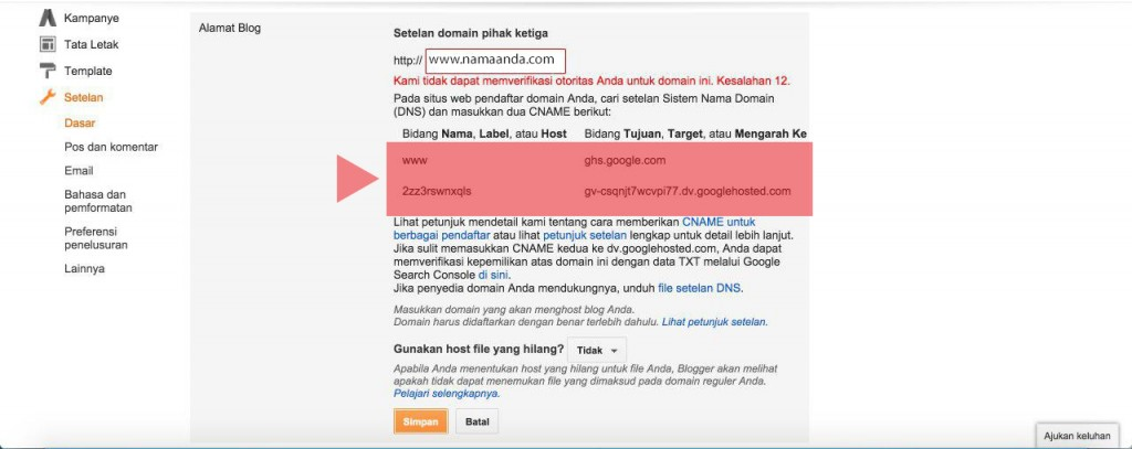 Tutorial Merubah Alamat Blogspot Menjadi Domain .com | IDCloudHost