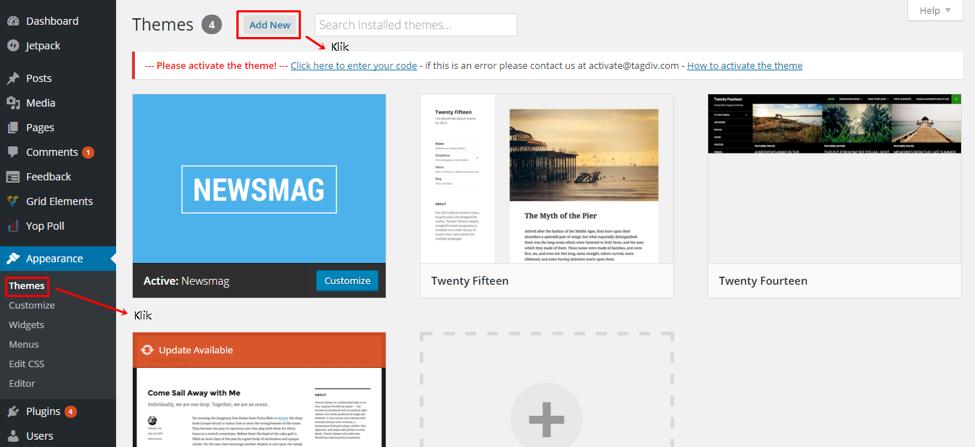 website dengan wordpress self hosted