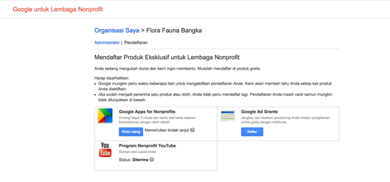 Aktifasi Google Apps pada Akun Google for NonProfit 3