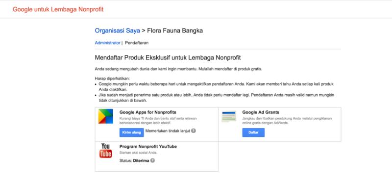 Aktifasi Google Apps pada Akun Google for NonProfit 3