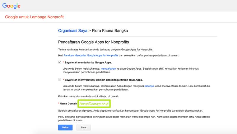 Aktifasi Google Apps pada Akun Google for NonProfit 4