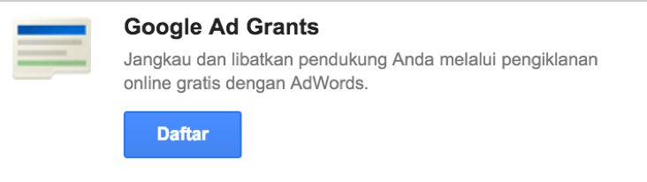 Cara Setup Google Google Ad Grants - Google for NonProfit 1