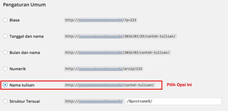 Membuat URL Permalink di WordPress yang SEO Friendly 2