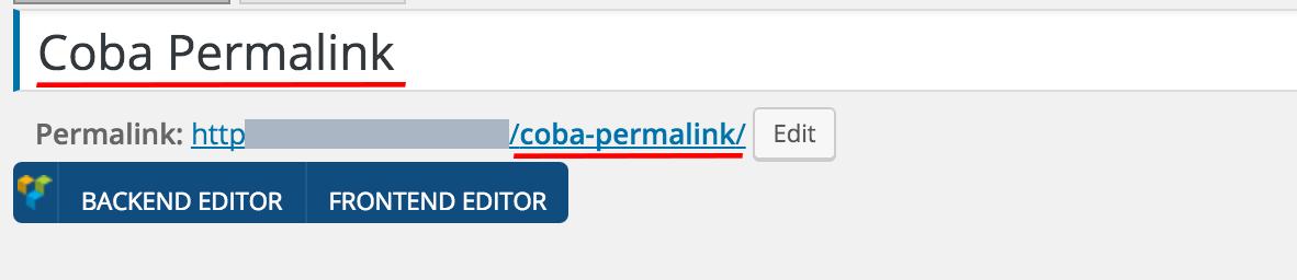 Membuat URL Permalink di WordPress yang SEO Friendly 3