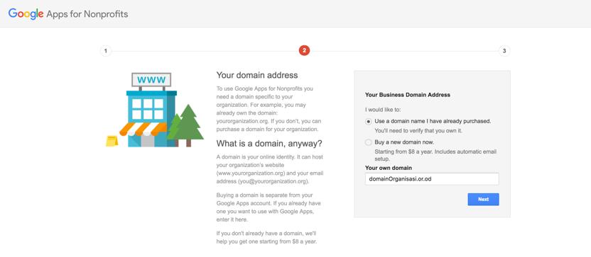 Mengaktifkan Admin Console Google Apps akun Google for NonProfit 3