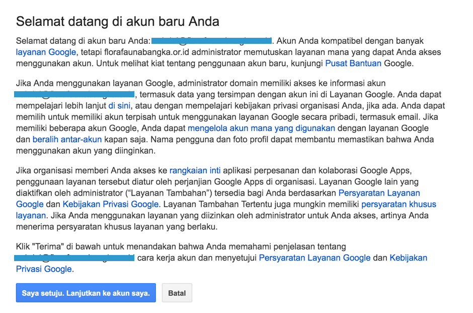 Mengaktifkan Admin Console Google Apps akun Google for NonProfit 4