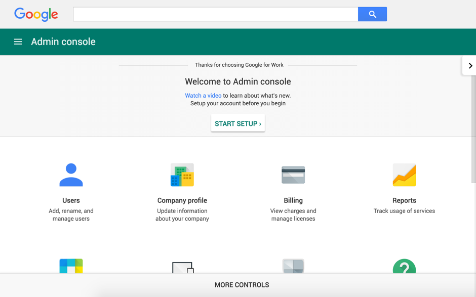 Mengaktifkan Admin Console Google Apps akun Google for NonProfit 5