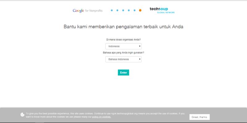 Mengaktifkan Akun Google For NonProfit dengan Validasi Token Techsoup Asia 1