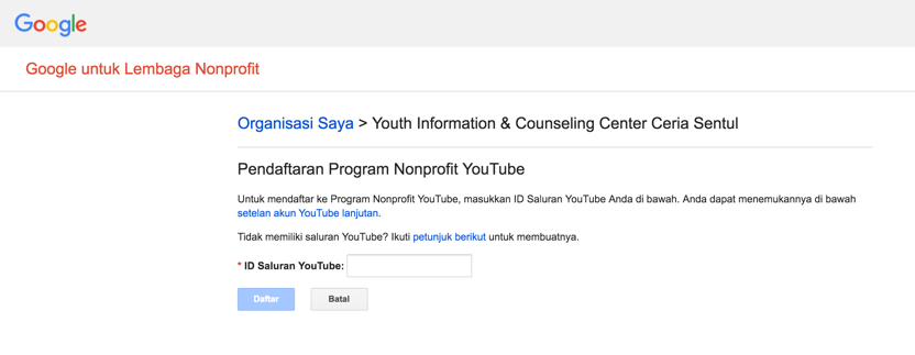 Mengaktifkan Youtube Premium pada akun Google for NonProfit 4