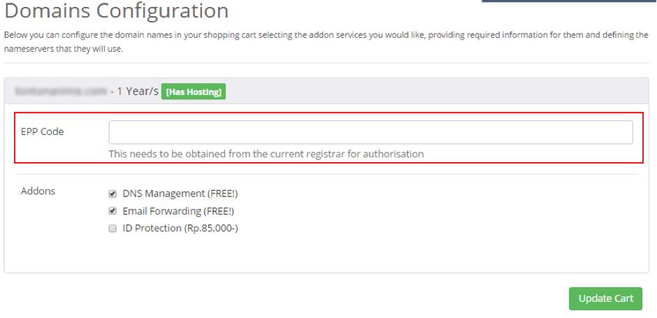Tutorial Cara Pemindahan atau Transfer Domain di IDCloudHost
