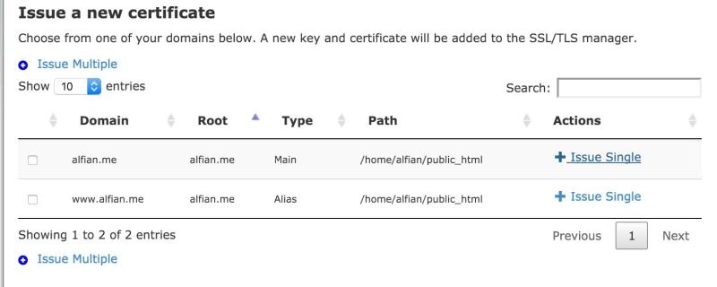 SSL Certificate Gratis di IDCloudHost 1
