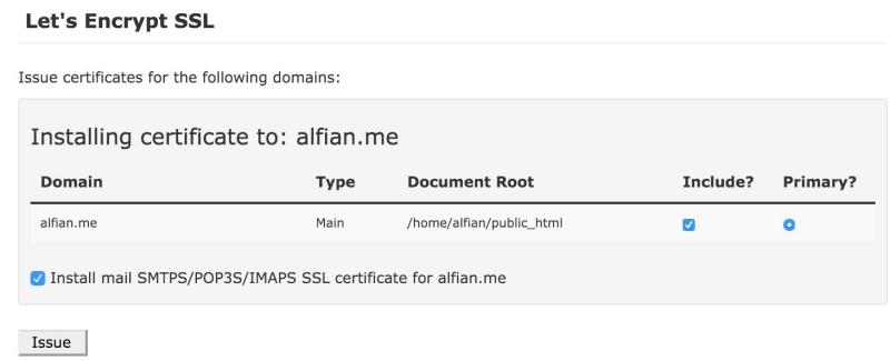 SSL Certificate Gratis di IDCloudHost 2