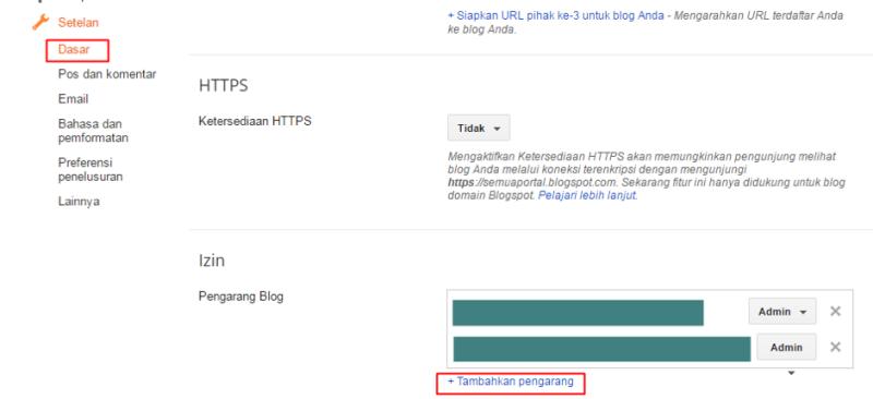 Tutorial Mengontrol Akses Pengguna Pada Blogspot 3