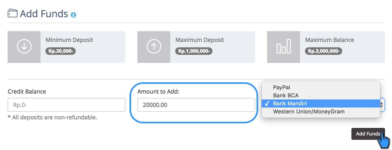 Cara Melakukan Add fund (Deposit) 4