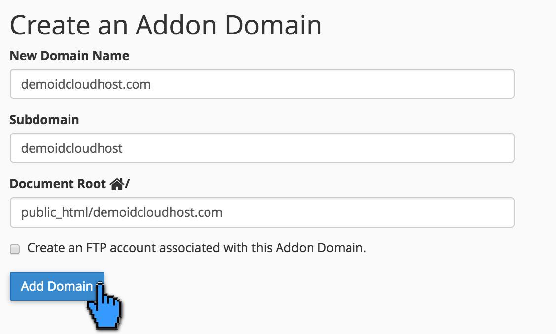 Cara Menambahkan Add-On Domain Melalui Cpanel 3