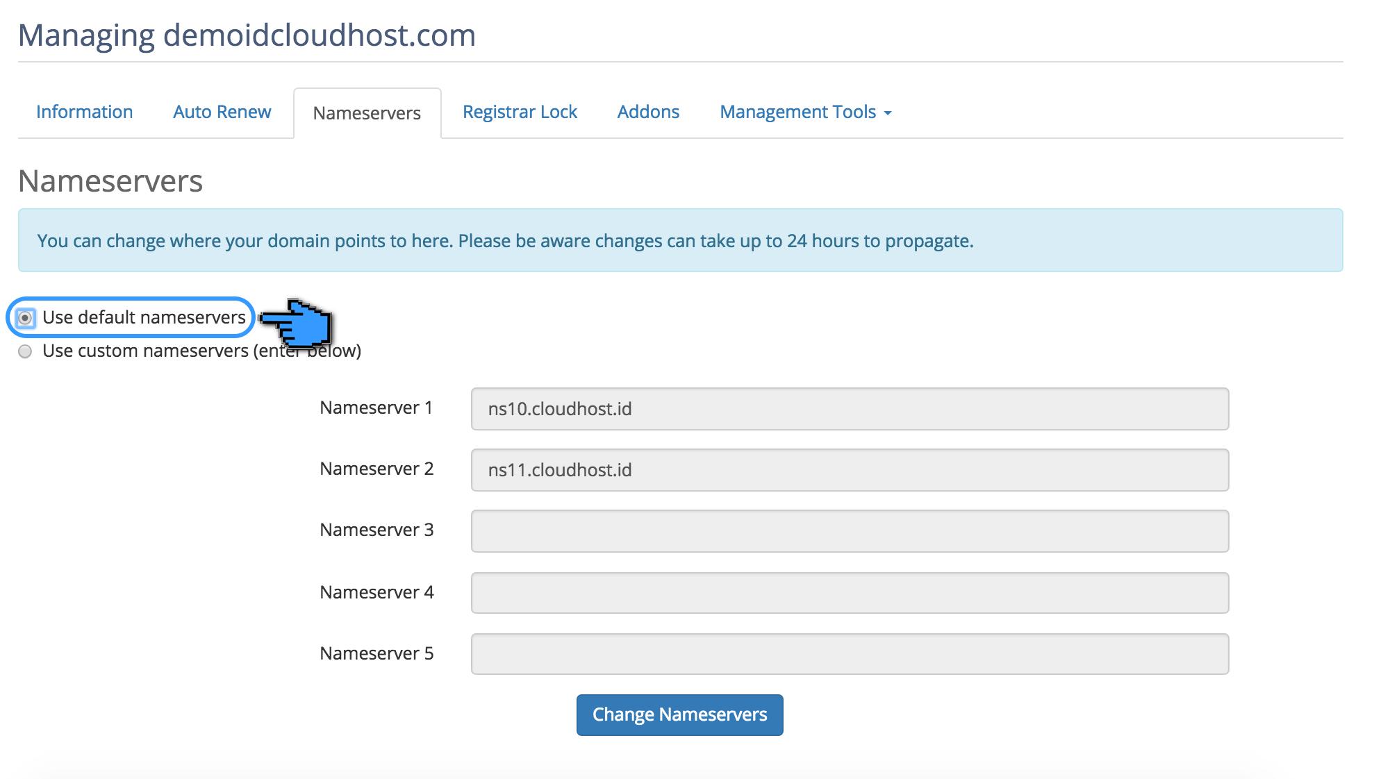 Cara Mengubah Nameserver pada Domain 5