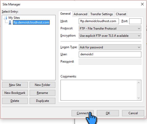 Cara Upload File Website ke Hosting dengan FileZilla 11 (pointer)
