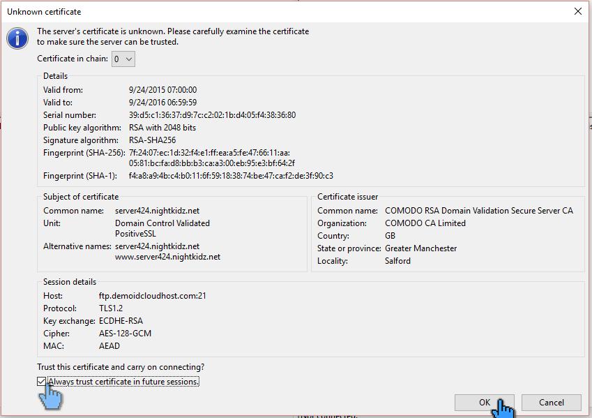 Cara Upload File Website ke Hosting dengan FileZilla 13 (pointer)