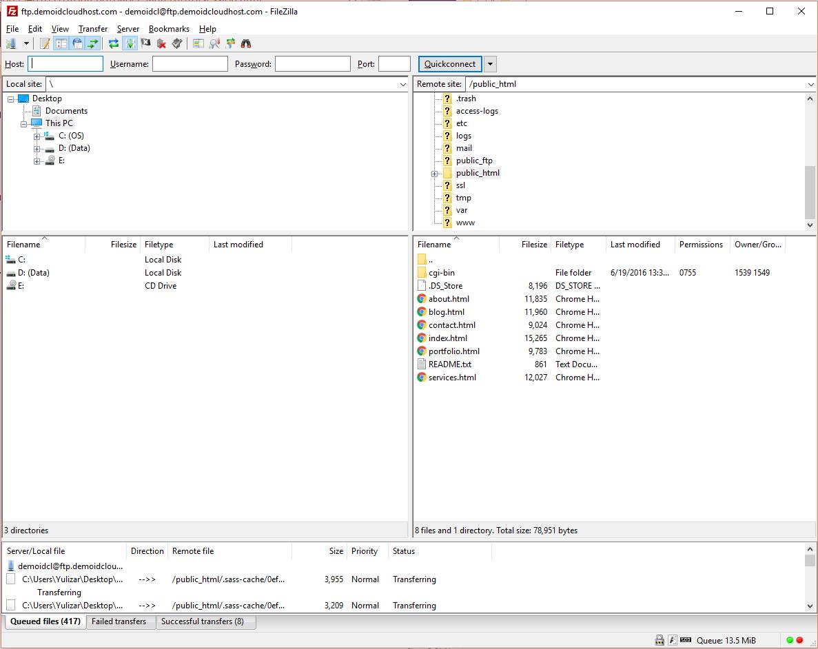 Cara Upload File Website ke Hosting dengan FileZilla 17