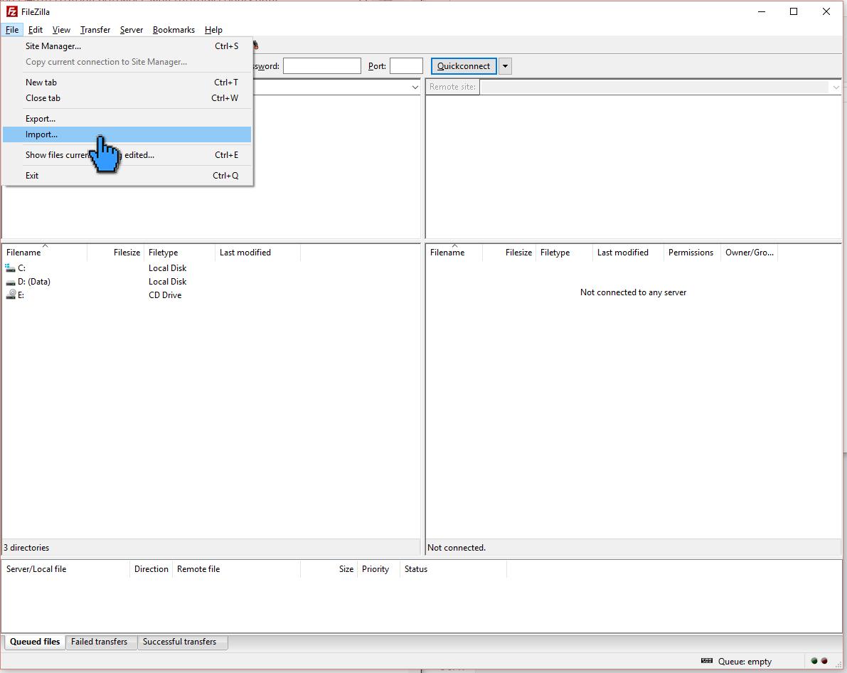 Cara Upload File Website ke Hosting dengan FileZilla 7 (pointer)