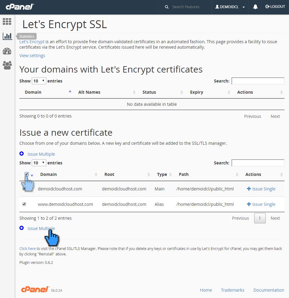 Cara aktivasi certificate SSL (Let's Encrypt) 4 (pointer)