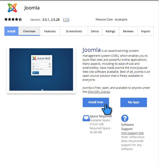 Cara instalasi joomla di cPanel 4(pointer)