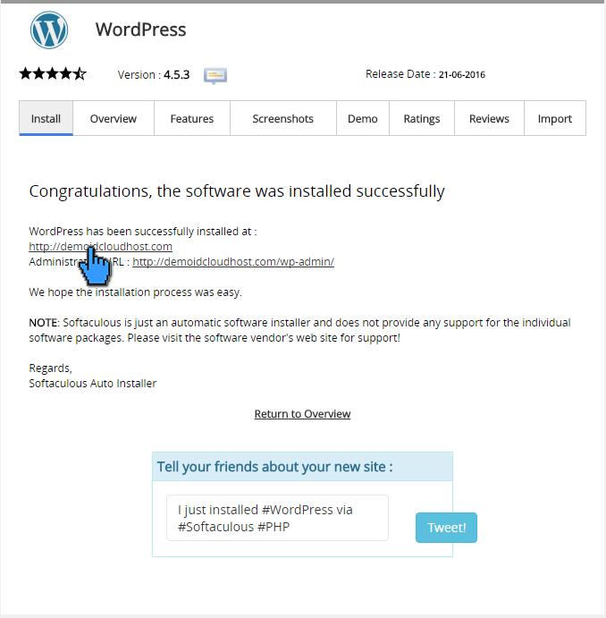 Cara instalasi wordpress di cPanel 13(pointer)