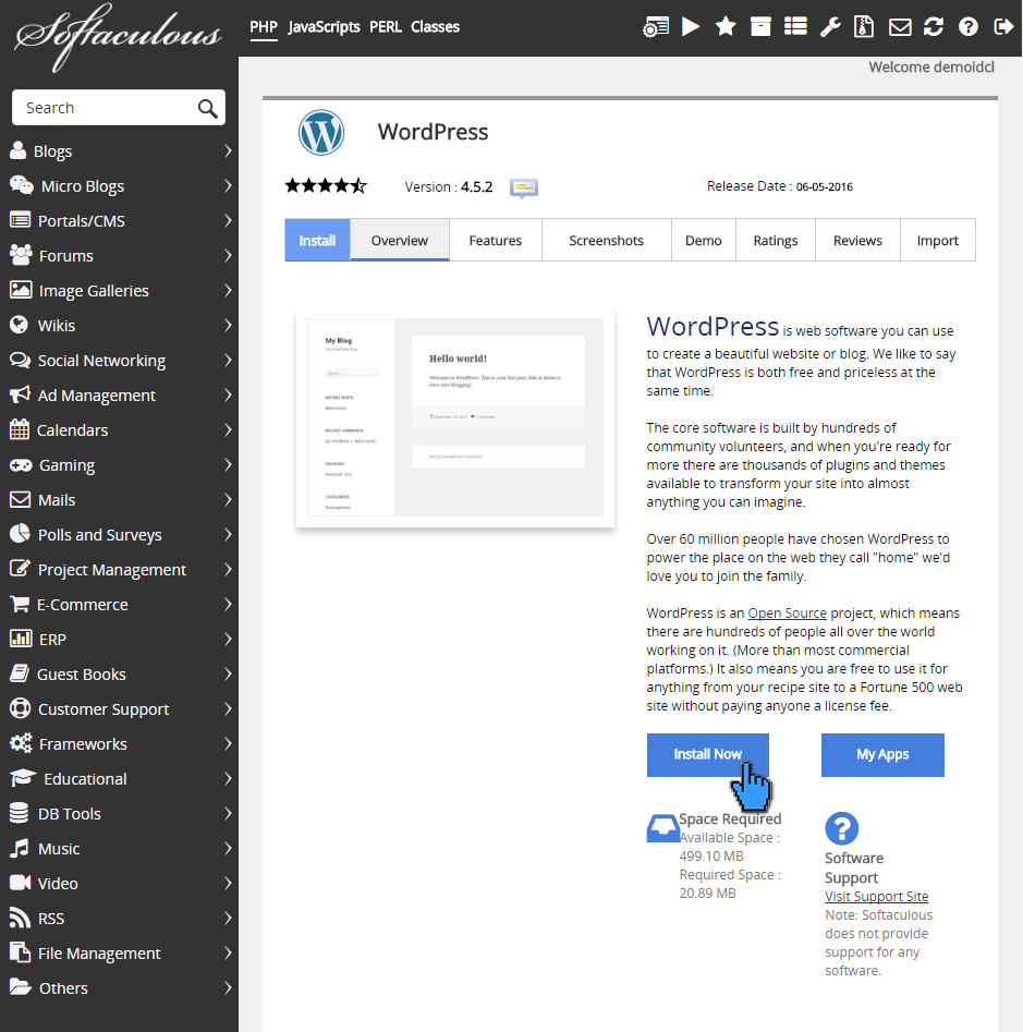 Cara instalasi wordpress di cPanel 4(pointer)