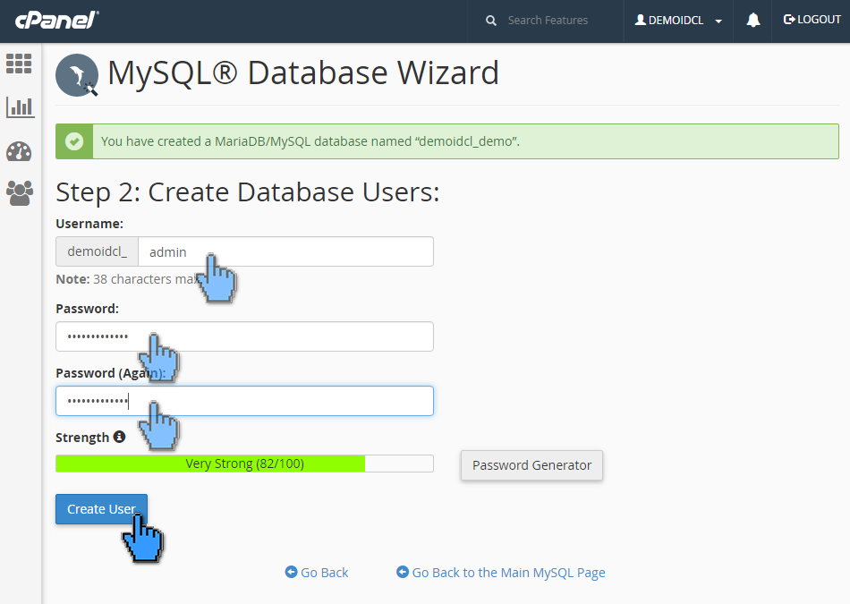 Cara membuat database MySQL di cPanel 5 (pointer)