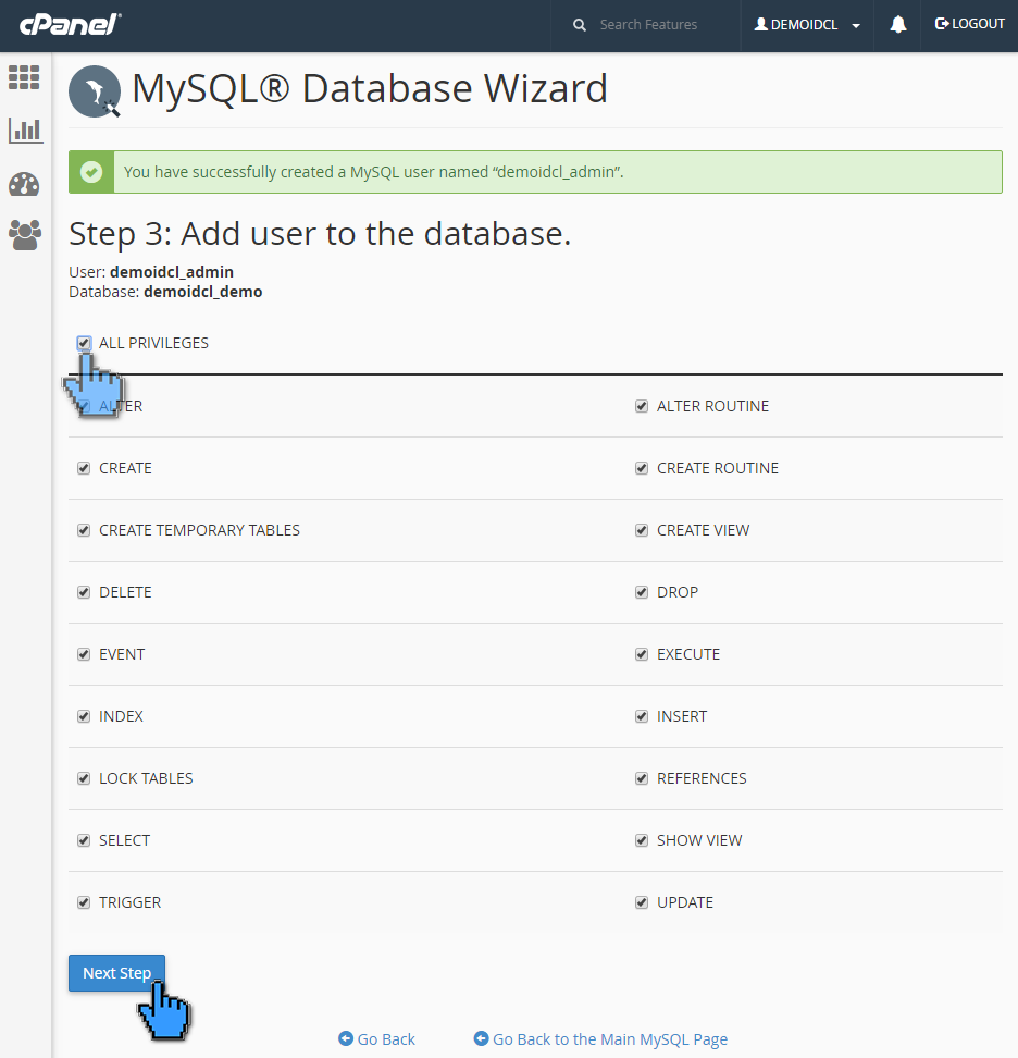 Cara membuat database MySQL di cPanel 6 (pointer)