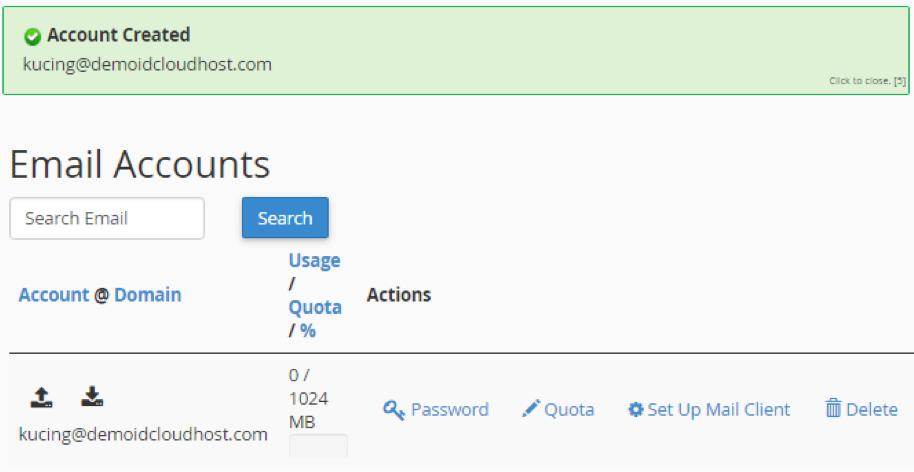 Cara membuat surel dengan domain sendiri di Cpanel 3