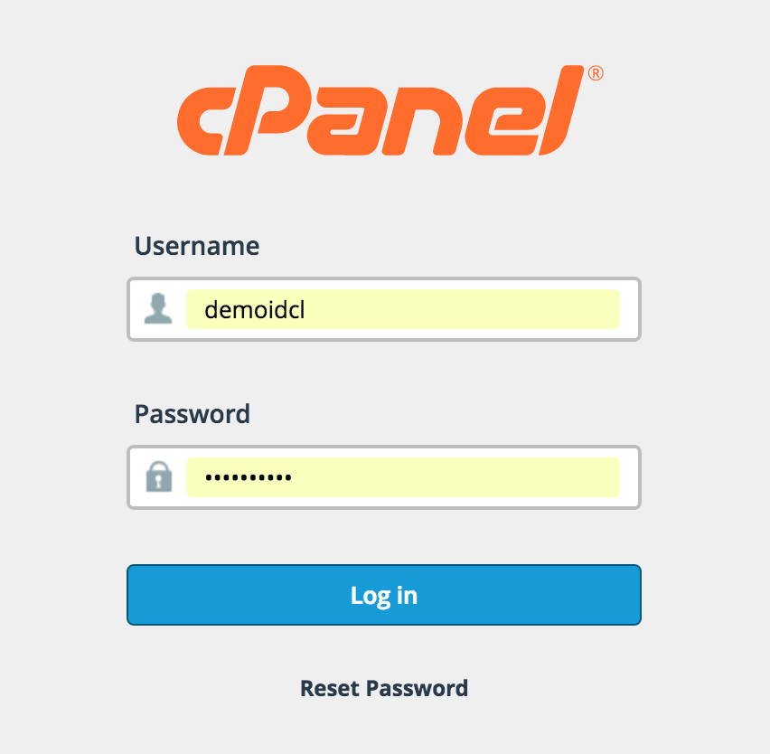 Login Cpanel IDcloudHost