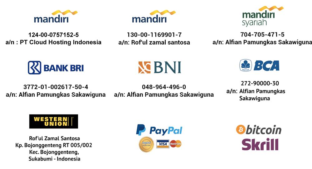 Metode Pembayaran IDCloudHost - PT Cloud Hosting Indonesia