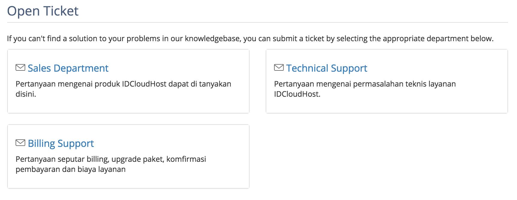 Pengajuan ticket IDCloudHost 5