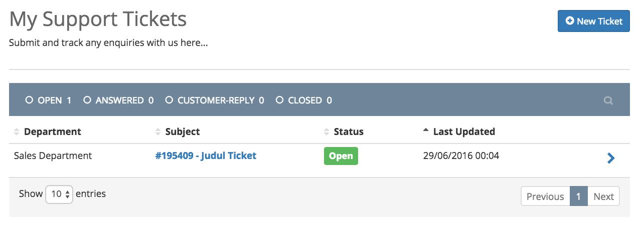 Pengajuan ticket IDCloudHost 9