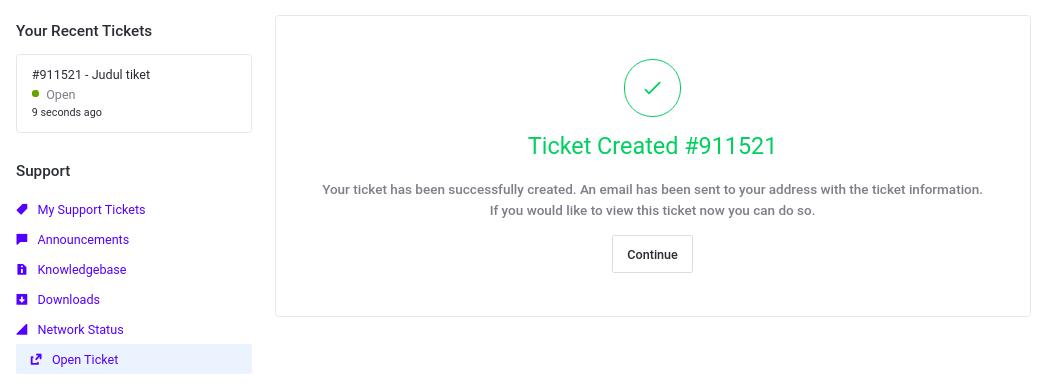 Recent Ticket idcloudhost 2020