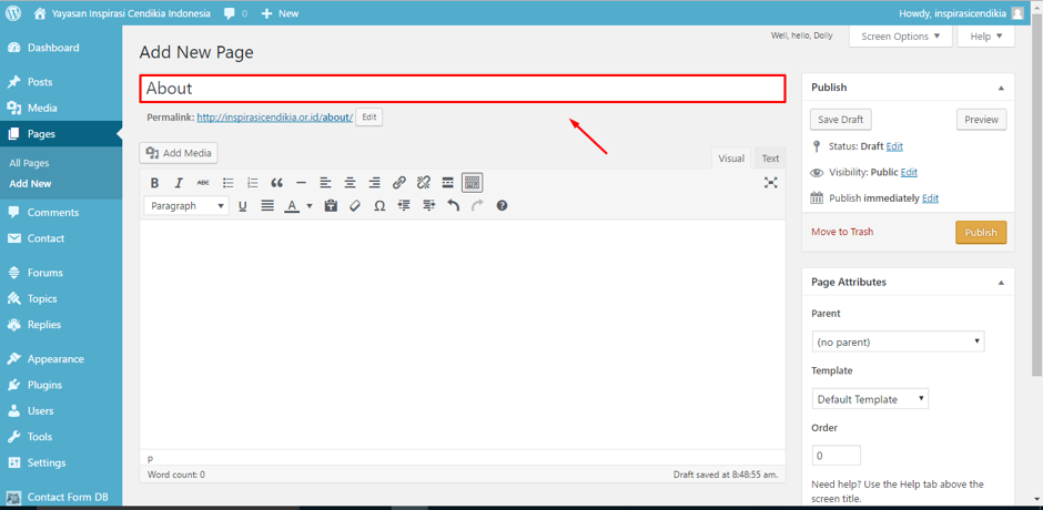 cara-membuat-page-halaman-di-wordpress-3