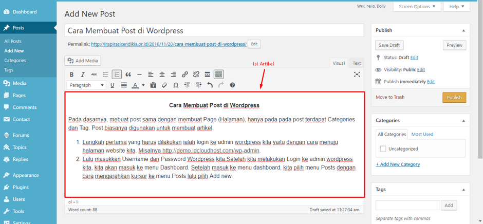 cara-membuat-postingan-di-wordpress-4