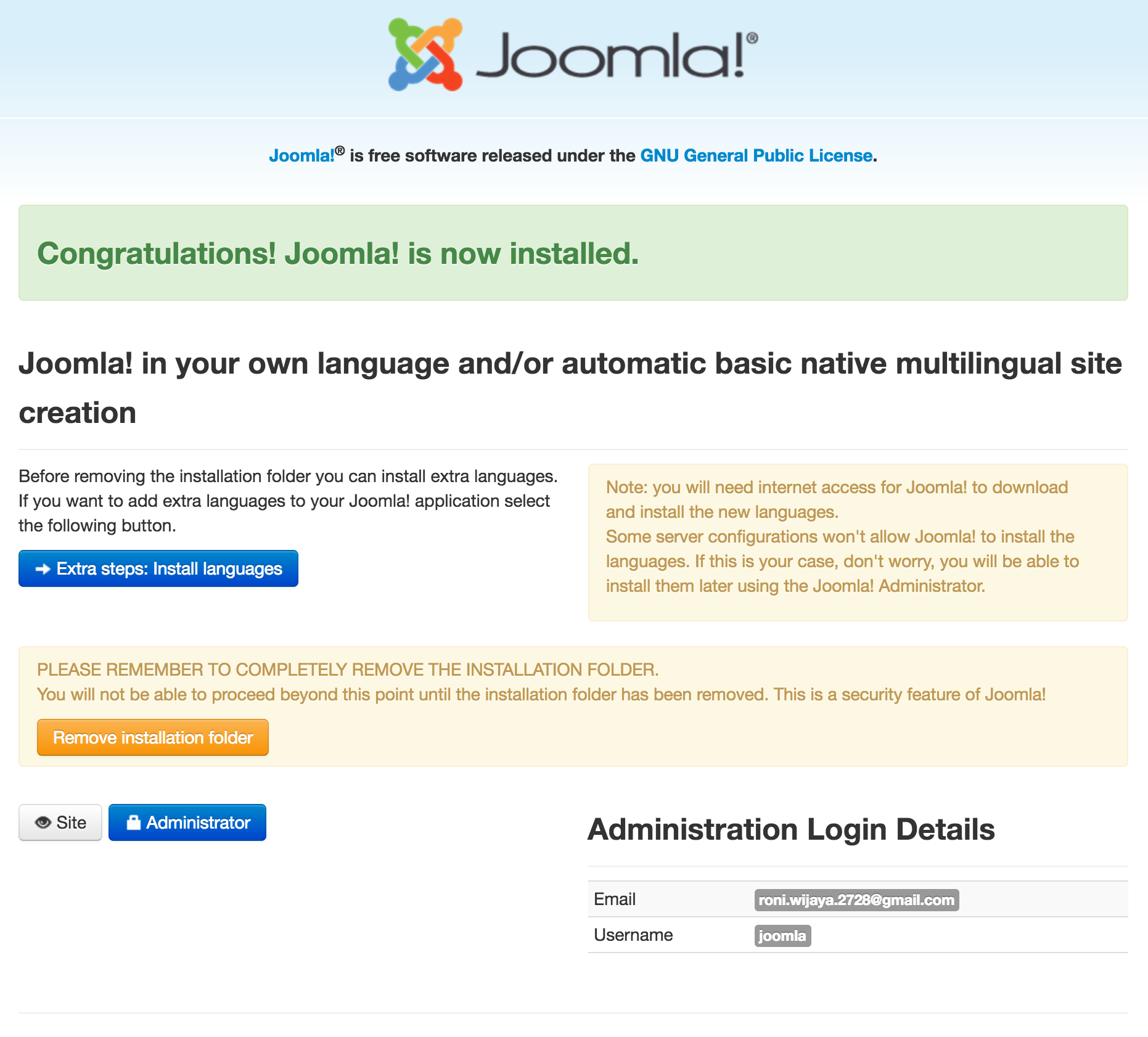 Cara Menginstall CMS Joomla di Ubuntu