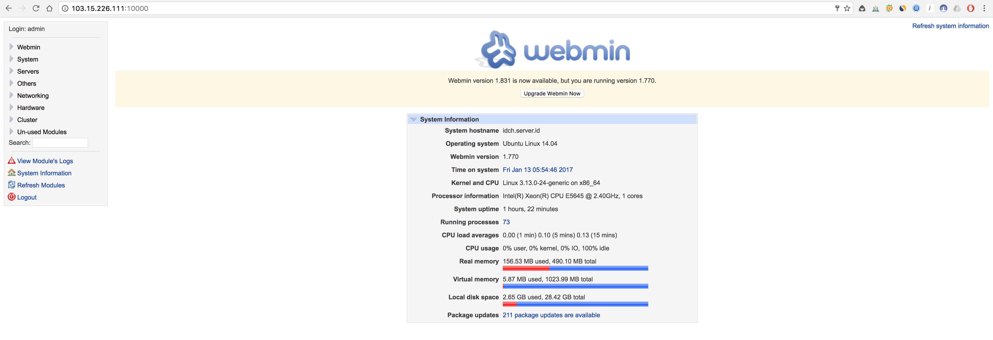 Cara Menginstall Webmin di Ubuntu