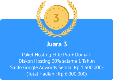 Juara 3 Lomba Blog IDcloudHost