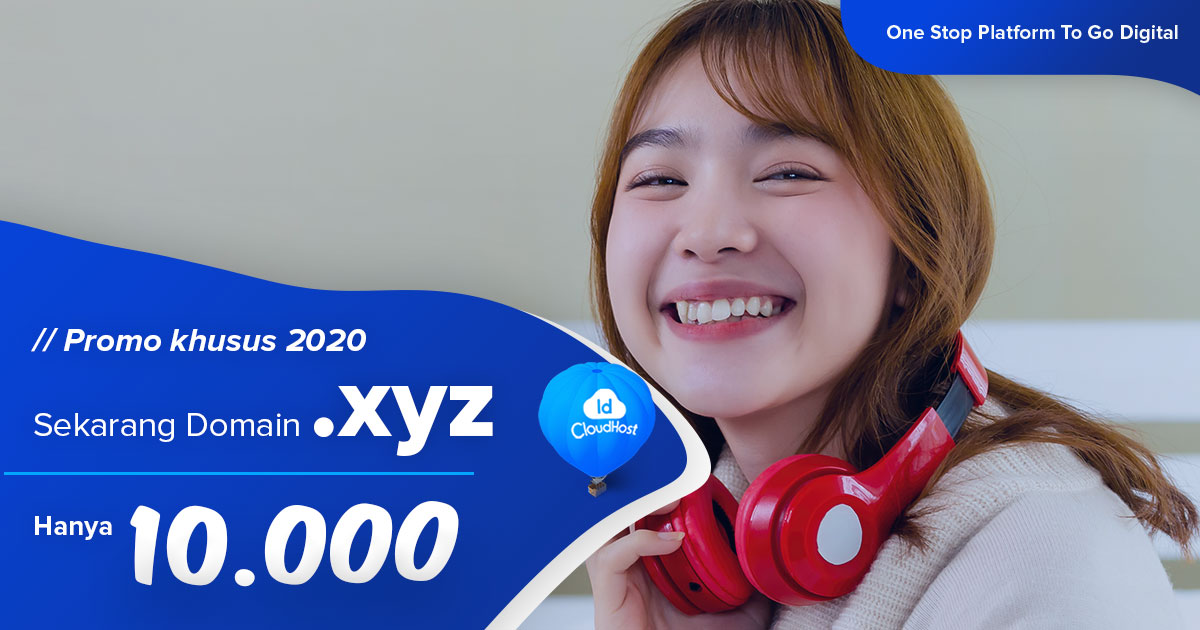 Promo Domain XYZ IDCloudhost