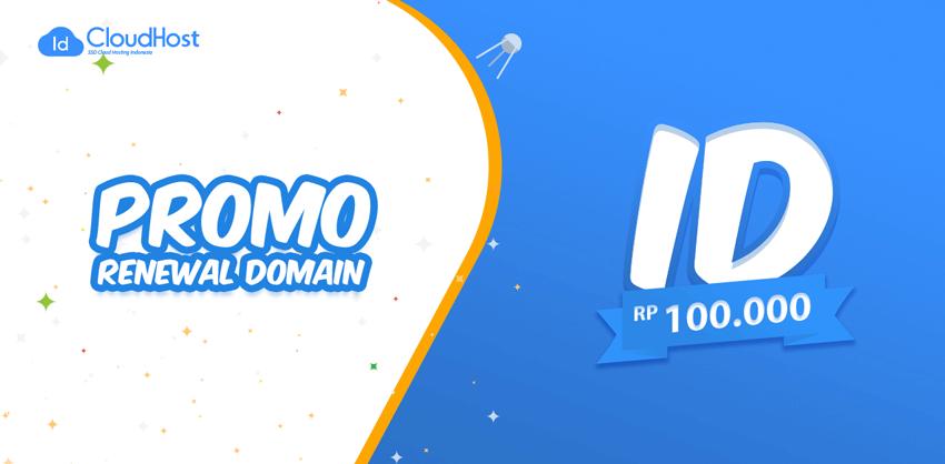 Promo Renewal Domain ID - Rp 100.000!