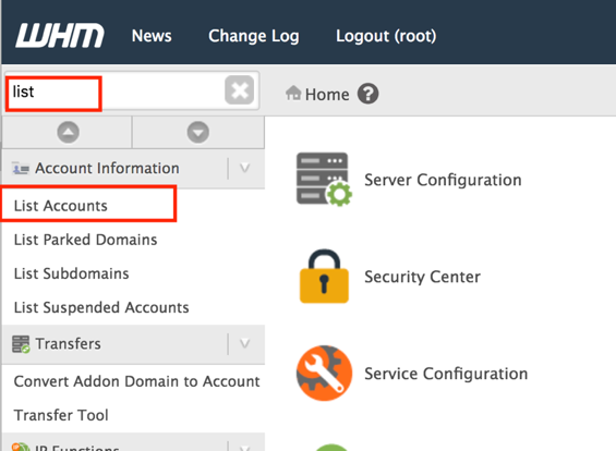 Tutorial Cara Menghapus cPanel Account di WHM