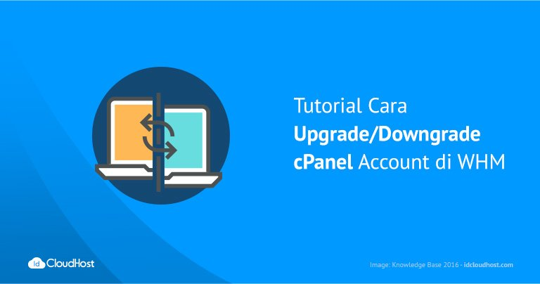 Downgrade cPanel Account di WHM