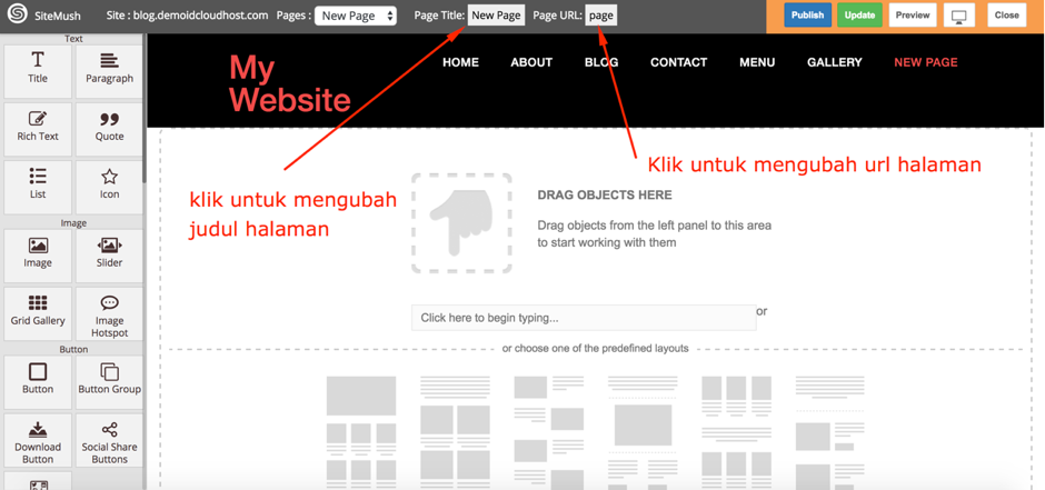 Cara Membuat Website di Website Builder IDCloudHost