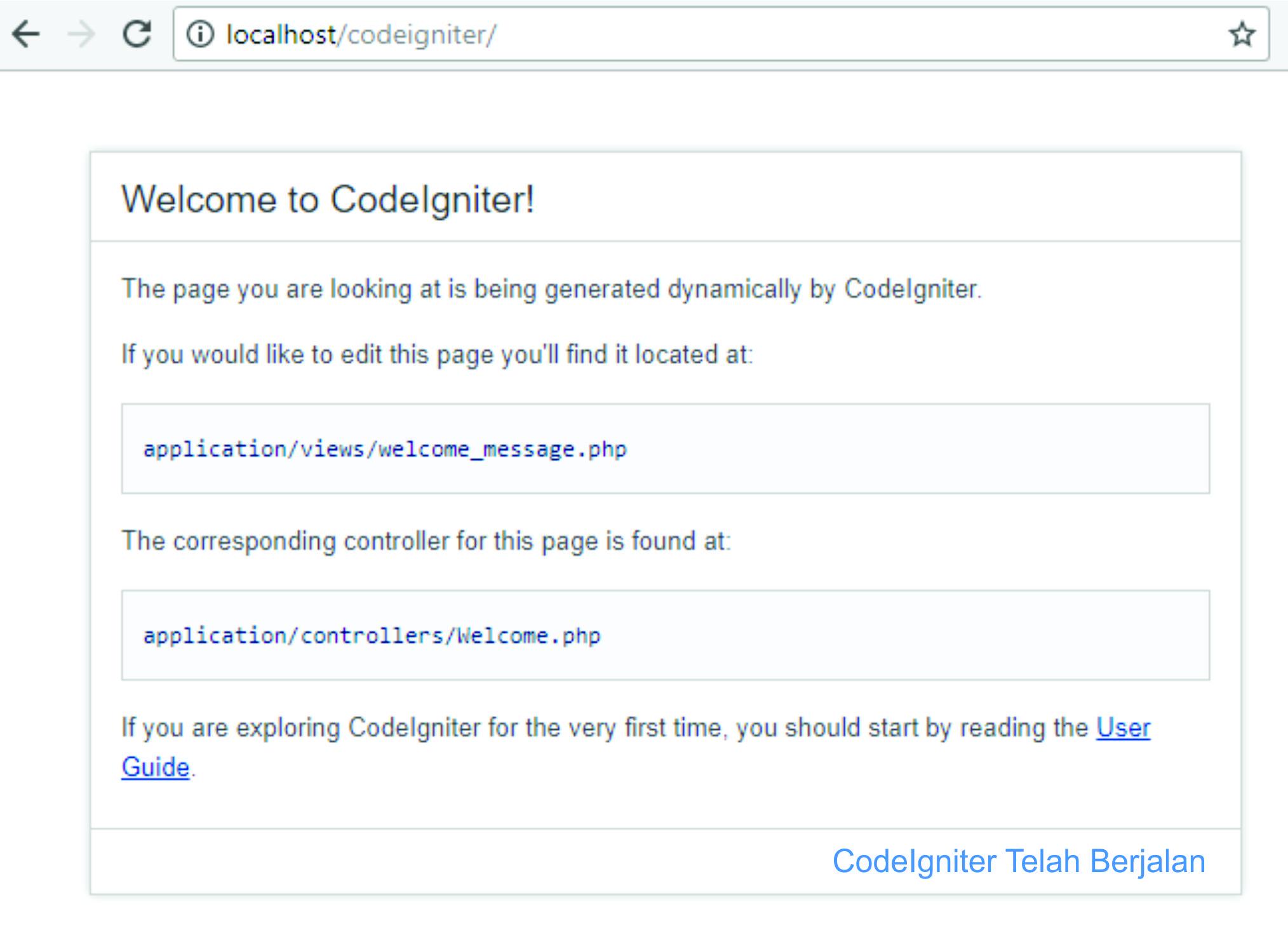 Tutorial Installasi CodeIgniter