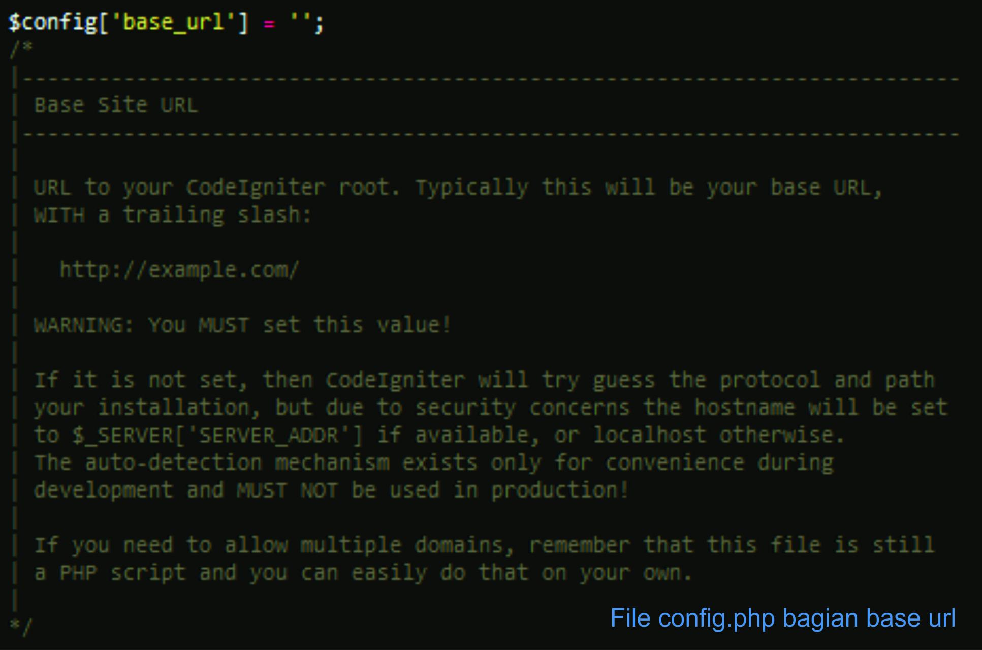 Cara Konfigurasi Framework CodeIgniter   IDCloudHost